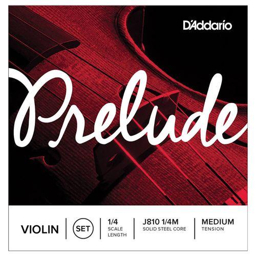 Cuerdas Violin D´addario Prelude Núcleo Sintético 1/4