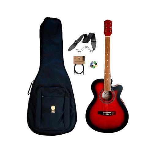 Pack Guitarra Electroacústica PF23CEQ, Cable, Funda, Strap y Uñetas