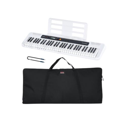 Pack Teclado Casio CT-S200WE incluye adaptador, Funda y Cable de Audio